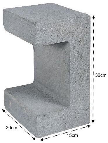 U-Element 15x20x30cm grijs